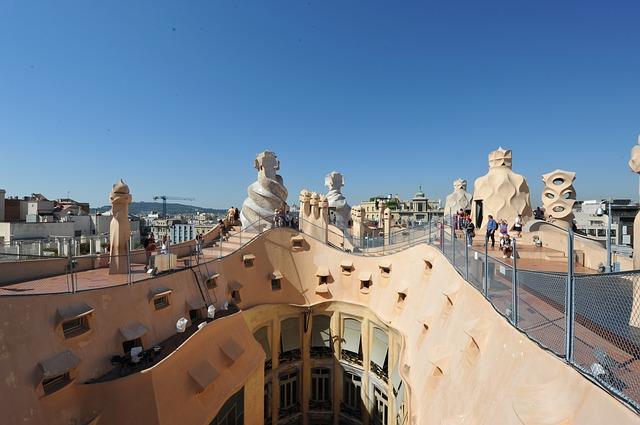 A Casa Mila fentről, belülről