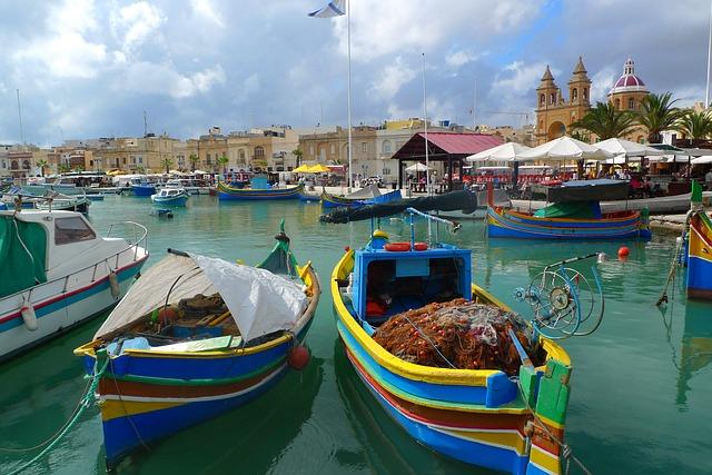 Marsaxlokk kikötője
