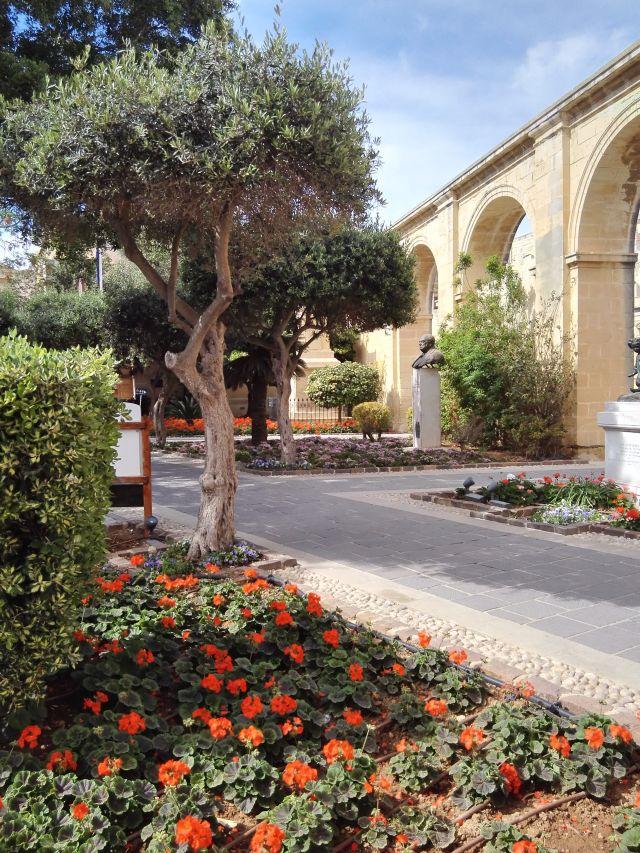 A Barakka-kert Málta fővárosának egyik legszebb parkja