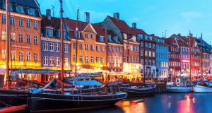 Koppenhága Nyhavn este