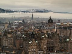 Edinburgh város látképe