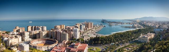Malaga, látkép