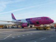 Wizz Air repülőgép indulás előtt