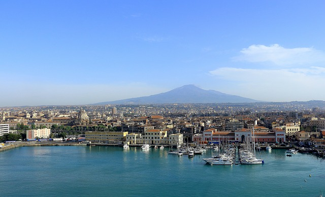 Catania látképe