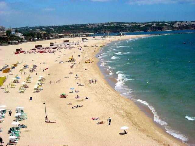 Praia da Rocha, gyönyörű, széles tengerparti strand