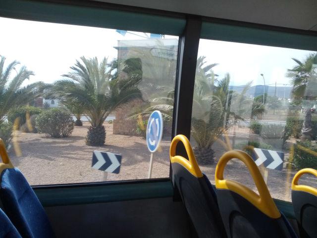 Ibiza, reptéri busz