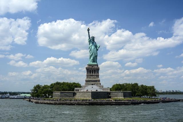 A Szabadság szobor a Liberty Islanden