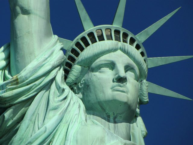 A New York-i Szabadság szobor arca