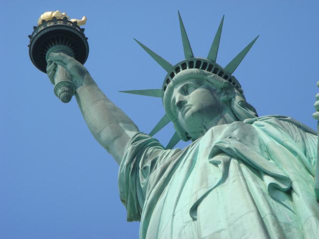 A Szabadság szobor alulnézetből