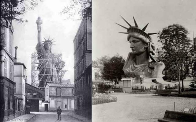 A Szabadság szobor felállítása New Yorkban