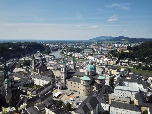 Panoráma a salzburgi várból