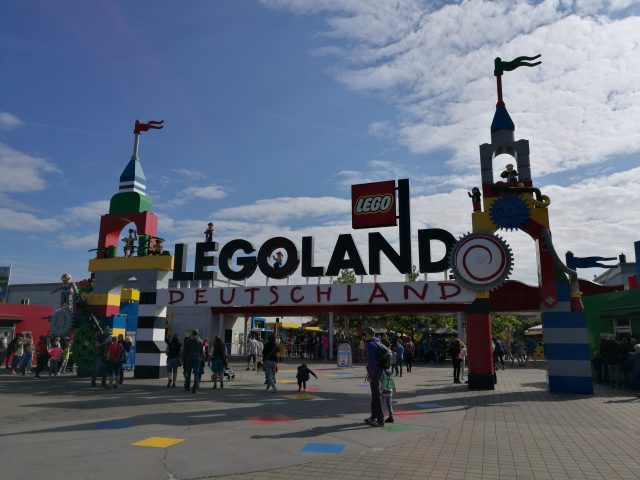 A Legoland Németország bejárata
