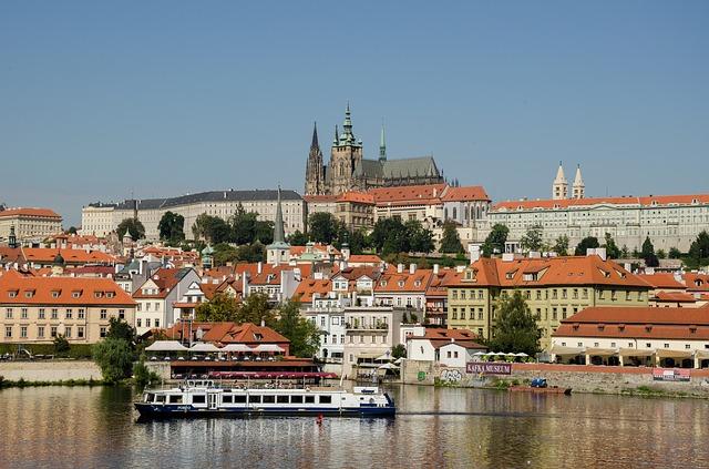 Prágai vár látképe