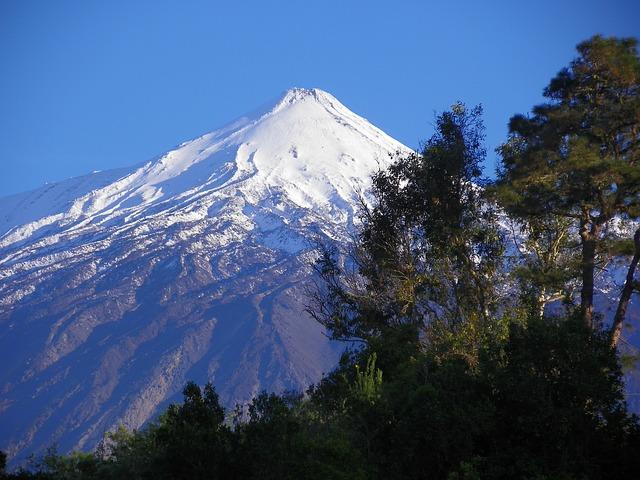 Teide hegy Spanyolország legmagasabb pontjával