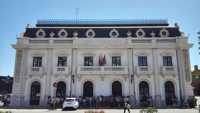 Valencia, a kikötői hatóság épülete