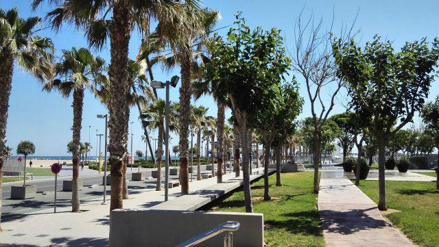 Valencia tengerparti sétánya