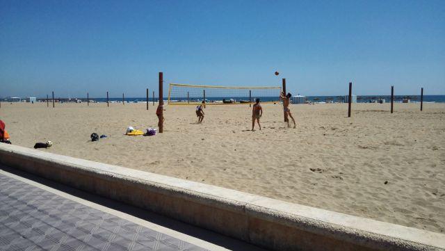 Strandröplabda Valenciában