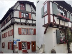 Bázel jellegzetes óvárosi házai