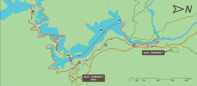 H túraútvonal a Plitvicei tavak körül