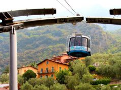 Monte Baldo felvonó 360 fokos panorámával