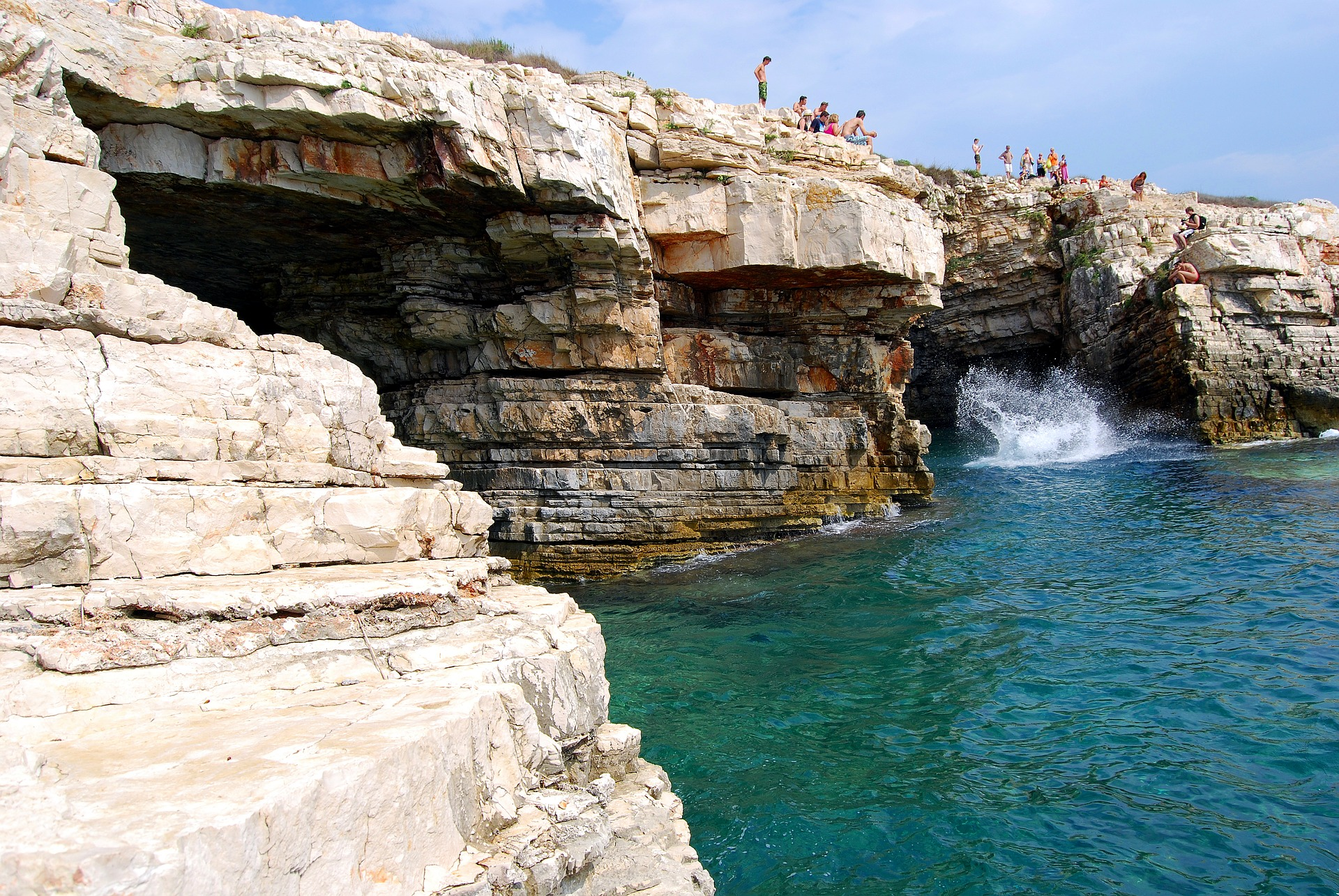 A Kamenjak-félsziget jellegzetes sziklái
