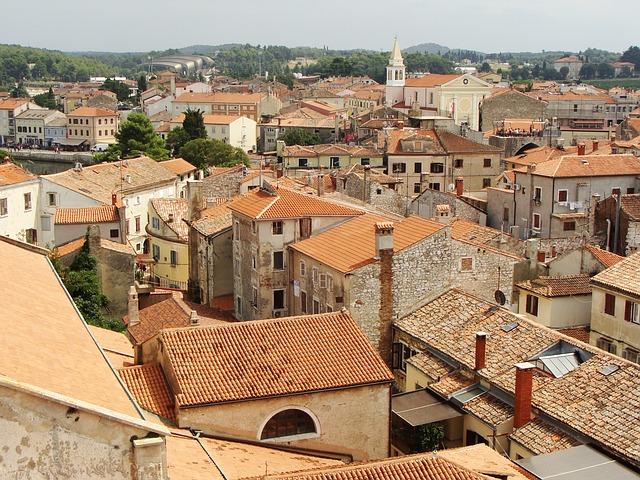 Kilátás a poreci bazilikából