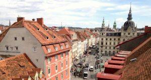 Graz főtere a magasból
