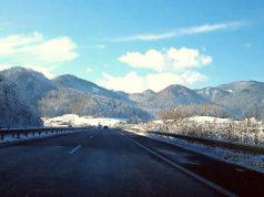 Szlovénia autópálya a hegyek között