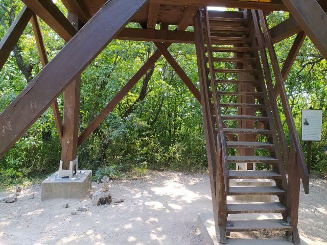 A balatonfüredi kilátó meredek lépcsője